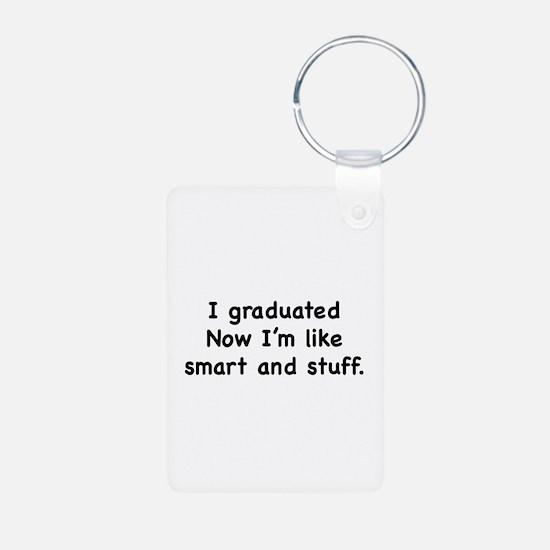 I Graduated Aluminum Photo Keychain
