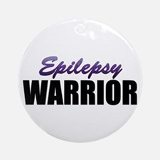 Epilepsy Warrior Ornament (Round)