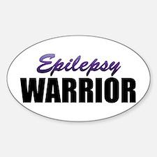 Epilepsy Warrior Sticker (Oval)
