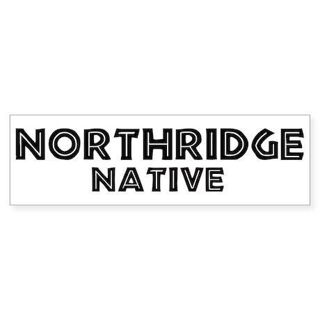 Northridge Native Bumper Sticker