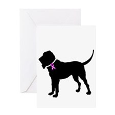Blood Hound Breast Cancer Sup Greeting Card