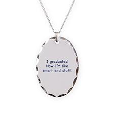 I Graduated Necklace Oval Charm