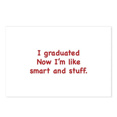 I Graduated Postcards (Package of 8)