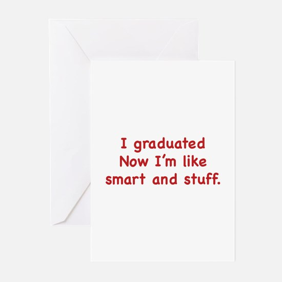 I Graduated Greeting Cards (Pk of 20)