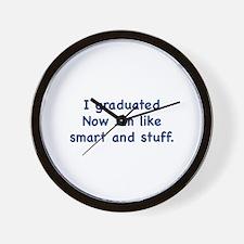 I Graduated Wall Clock