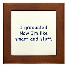 I Graduated Framed Tile
