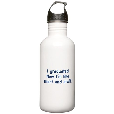 I Graduated Stainless Water Bottle 1.0L