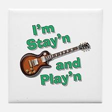 Guitar Playn Tile Coaster