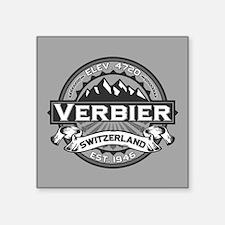"Verbier Grey Square Sticker 3"" x 3"""