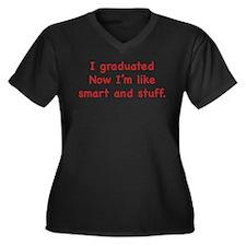 I Graduated Women's Plus Size V-Neck Dark T-Shirt