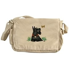 Scotty and Butterfly Messenger Bag