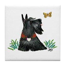 Scotty and Butterfly Tile Coaster