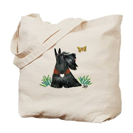 Scotty and Butterfly Tote Bag
