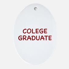 Colege Graduate Ornament (Oval)