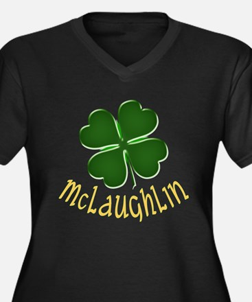 Irish McLaughlin Women's Plus Size V-Neck Dark T-S