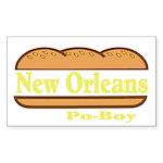 Poboy Sticker (Rectangle 50 pk)