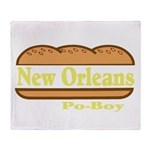 Poboy Throw Blanket