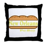 Poboy Throw Pillow
