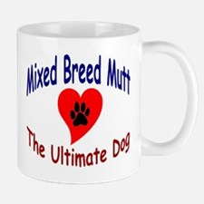 Heart Print Encircled Mutt Mug