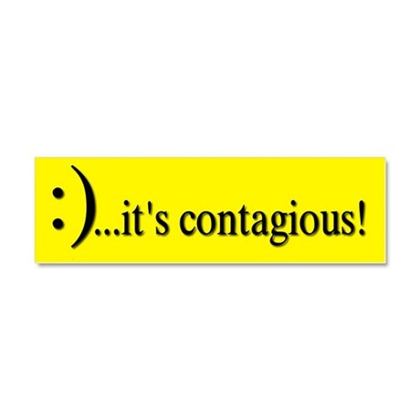 Smile Its Contagious! Car Magnet 10 x 3
