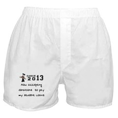 Student Loan 2013 Boxer Shorts