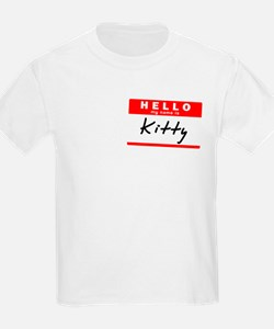 Kitty, Name Tag Sticker T-Shirt
