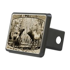 Bull elk face off Hitch Cover