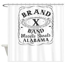 Brand X Band Shower Curtain