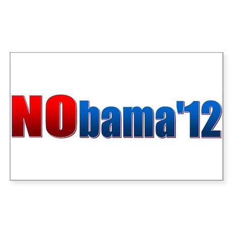 Nobama - No Obama - Sticker (Rectangle)