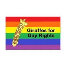 Giraffes for Gay Rights Car Magnet