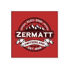 """Zermatt Red Square Sticker 3"""" x 3"""""""