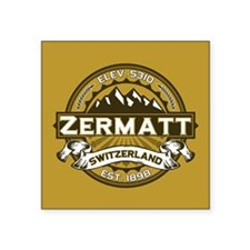 "Zermatt Tan Square Sticker 3"" x 3"""