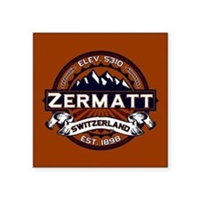 "Zermatt Vibrant Square Sticker 3"" x 3"""
