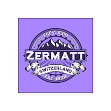"""Zermatt Violet Square Sticker 3"""" x 3"""""""