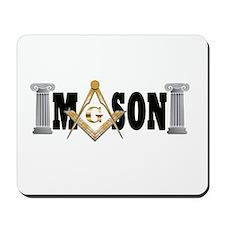 Freemason Logo with Pillars Mousepad
