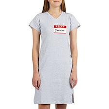 Yasmine, Name Tag Sticker Women's Nightshirt