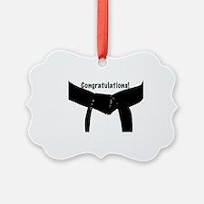 Black Belt Congratulations Ornament
