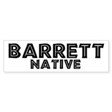 Barrett Native Bumper Bumper Sticker