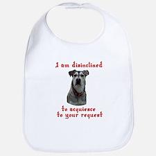 Woof means no dog Bib