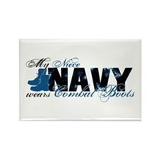Niece Combat Boots - NAVY Rectangle Magnet
