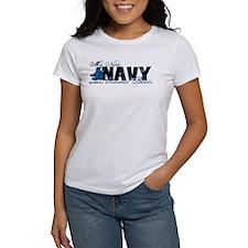 Niece Combat Boots - NAVY Tee