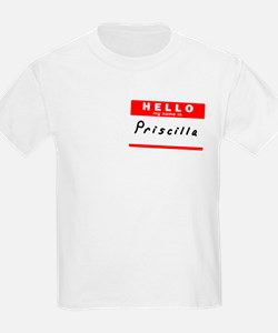 Priscilla, Name Tag Sticker T-Shirt