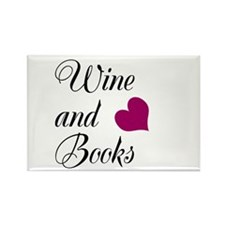 Wines and Books Rectangle Magnet