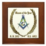 2012 Mason of the Year Framed Tile