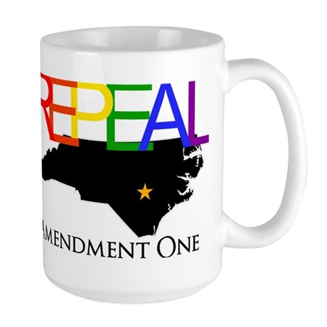Repeal Amendment One Rainbow with NC State Large M