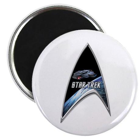 StarTrek Command Silver Signia defiant Magnet