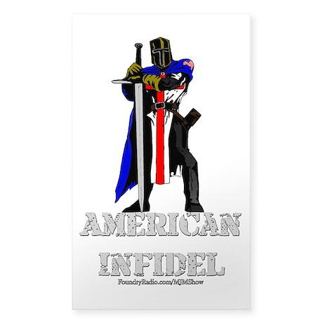American Infidel Sticker (Rectangle)