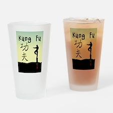 Kung fu 3.jpg Drinking Glass