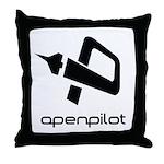 Square Logo BW no edge Throw Pillow