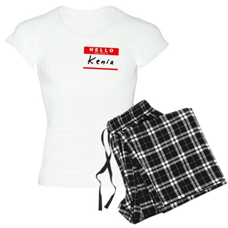Kenia, Name Tag Sticker Women's Light Pajamas